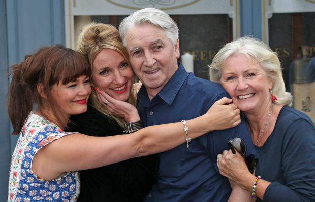 Jim Bartley (Bela) is congratulated by Rachel Pilkington (Jane), Aisling O'Neill (Carol) Una Crawford O'Brien (Renee)