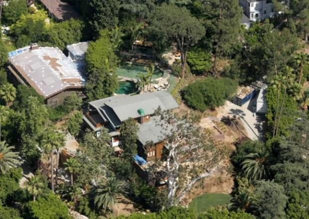 The Pitt-Jolie family home in the Los Feliz area of Los Angeles