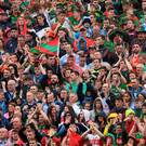 Mayo and Dublin fans on Hill 16 during the recent game Picture: Sportsfile