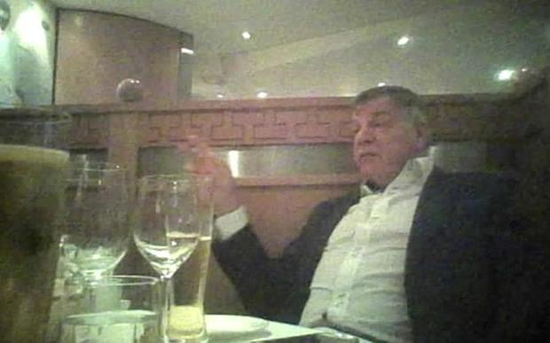 A still from the video that led to Allardyce's resignation Picture: Daily Telegraph