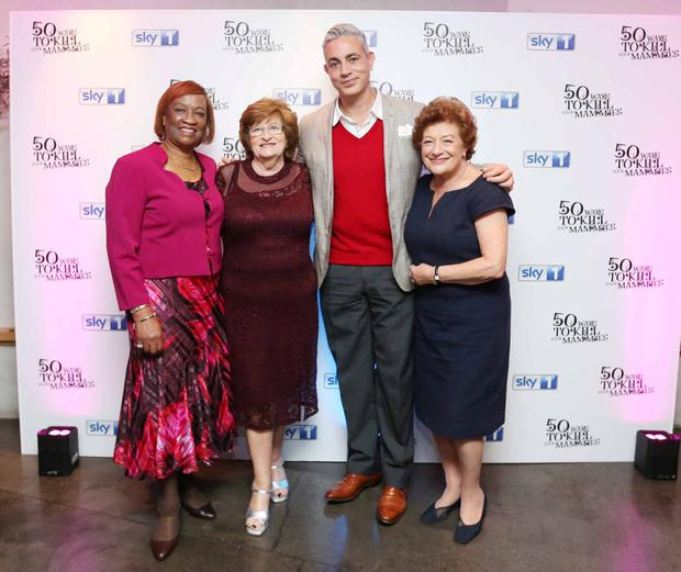 (L-R) Joy Johnson, Nancy Ashmawy, Baz Ashmawy and Ann Berg at the Dublin premiere of 50 Ways To Kill Your Mammies