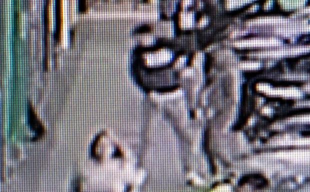 A CCTV still of the attack