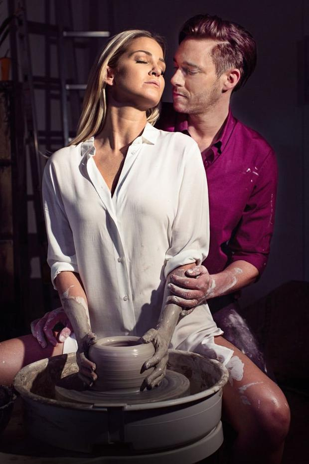 Sarah Harding pictured with her co-star Andy Moss