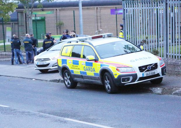 Gardai at the Crossagalla Industrial Estate in Limerick where the alleged Bandidos initiation took place Picture: Liam Burke