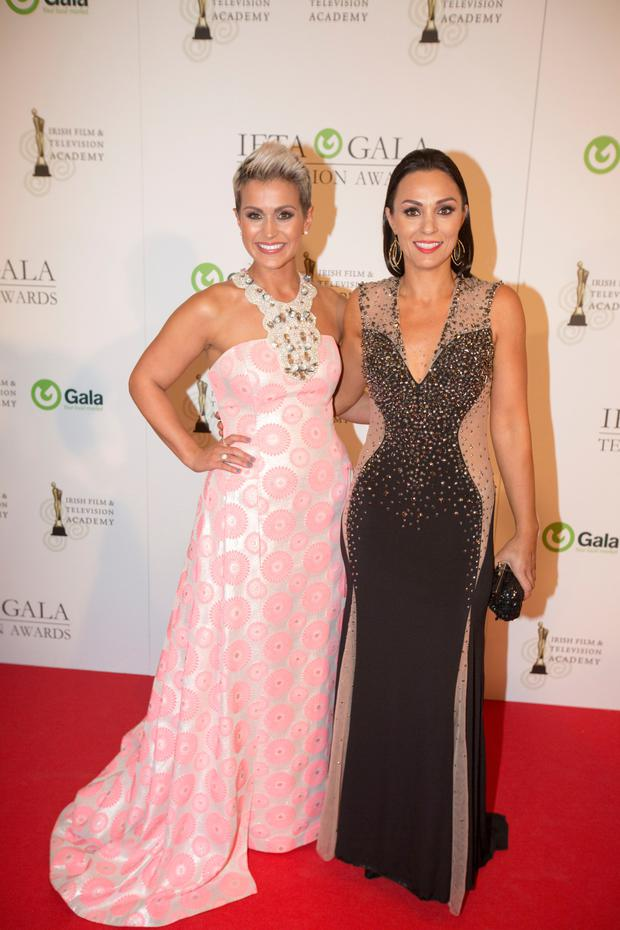Former Rose of Tralee Maria Walsh and her TV producer girlfriend Shauna Keogh Picture: Mark Condren