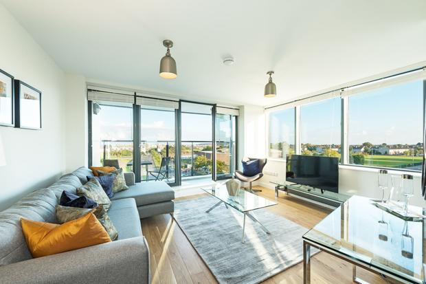 The interior of one of the show apartments at the New Priory development in North Dublin