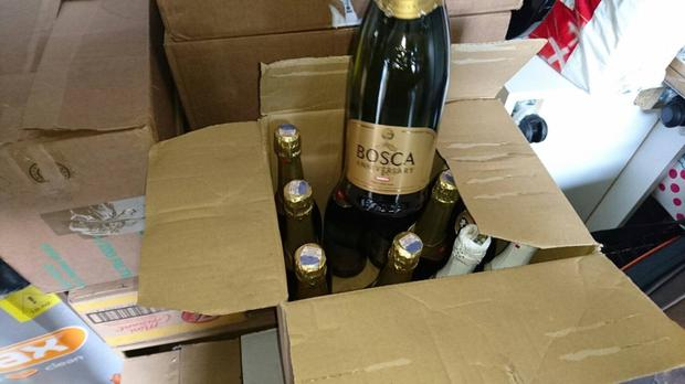 Champagne was recovered in the raid