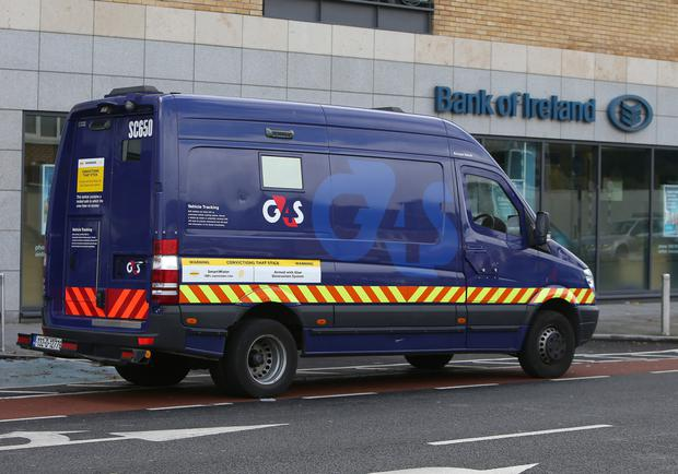 A gang stole €50k in a raid at the Bank of Ireland in Tallaght