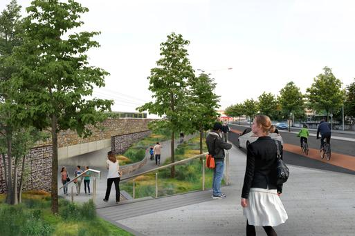 How the Merrion Gates, the scene of numerous accidents, will look if the €50m plan is approved