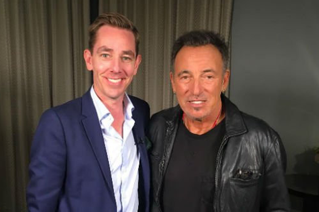 Ryan Tubridy with Bruce Springsteen