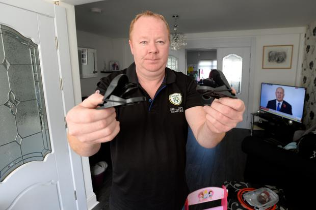 Barman Noel Sheehan with rat traps in his Drimnagh home