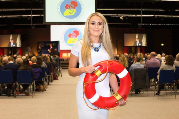 Stephanie Knox, one of the heroes of the Buncrana tragedy, at the Irish Water Safety's national awards ceremony