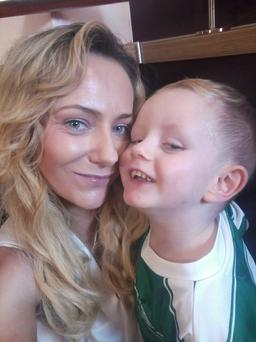 Siobhan Donohue and her son Mason