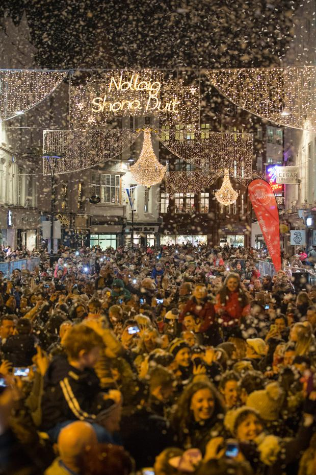 Some 20,000 people packed onto Grafton Street