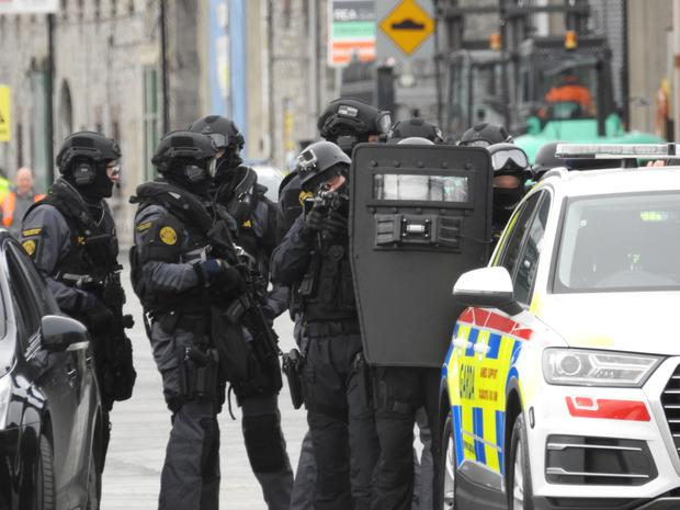 Members of the Garda Regional Support Unit – seen in action during a recent training exercise – have been deployed as part of Operation Mutiny