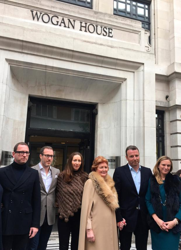 Guests outside Wogan House. Photo: PA