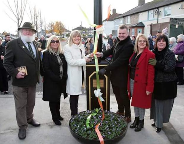 The clock is unveiled in Donnycarney
