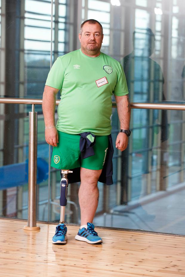 Chris McElligott will be the first person with a major physical disability to appear on RTE's Operation Transformation