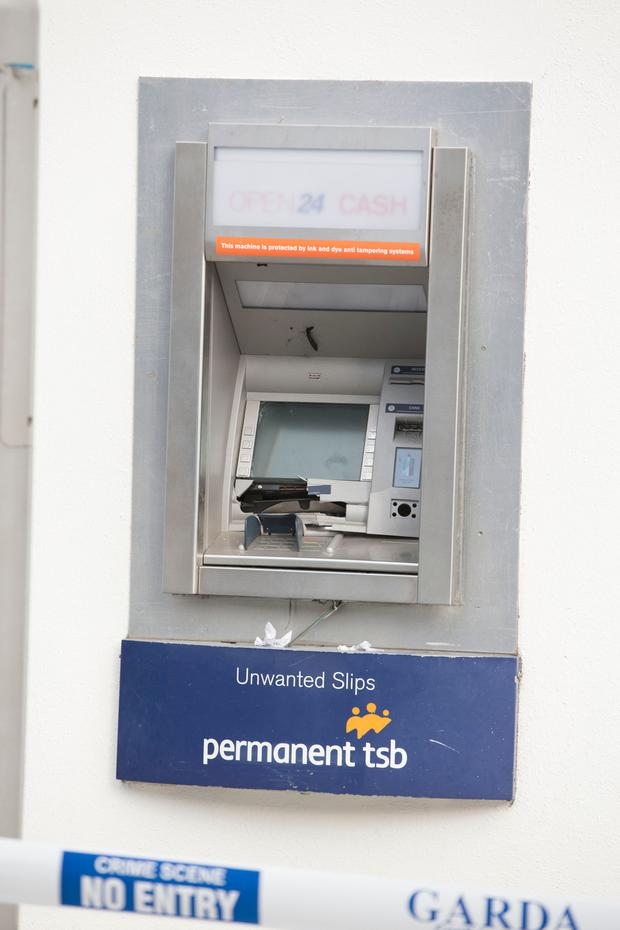 The Scene of the Permanent TSB ATM Robbery at Greystones.