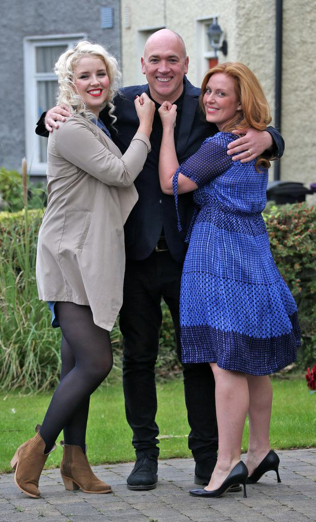 Fair City actors Rebecca Grimes (left), Tony Tormey and Clelia Murphy Picture: Collins