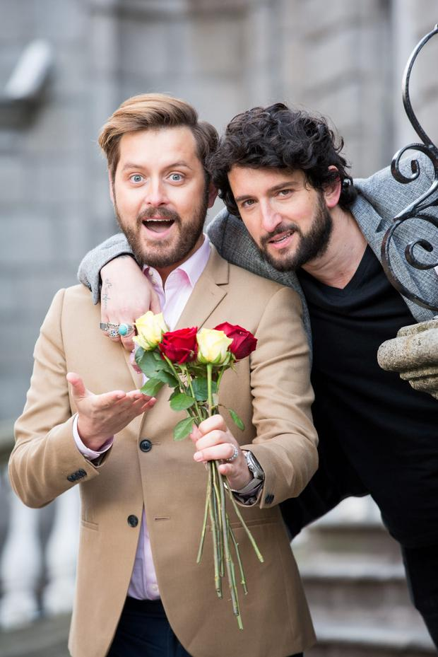 Brian Dowling and husband Arthur Gourounlian