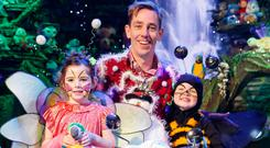 Pictured at the reveal of the theme of this year's Late Late Toy Show, which airs Friday, December 2nd at 9.35pm on RTÉ One, were:Toy Show presenter Ryan Tubridy with Lauren McMahon (5) and Cillian Ryan (4).