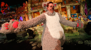 Ryan Tubridy performs as Baloo the Bear