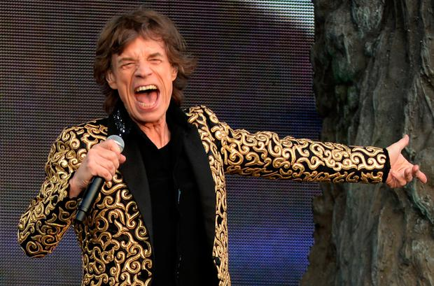 Rolling Stones frontman Sir Mick Jagger who has become a father again at the age of 73