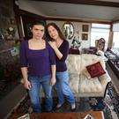 Laraine and Christa Johnson in their home. Photo: Damien Eagers