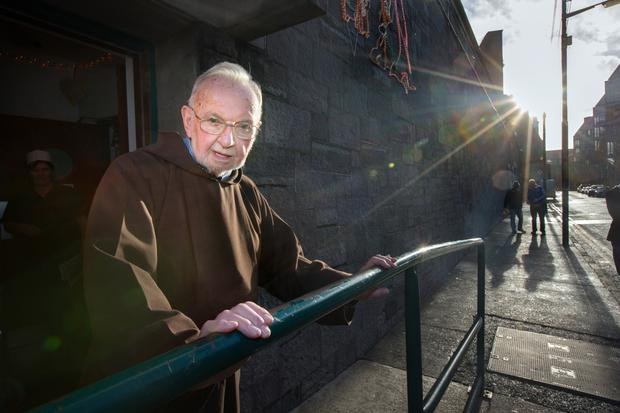 Brother Kevin Crowley outside The Capuchin Day Centre