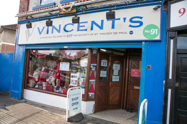 The St Vincent de Paul Shop in Cabra after a robbery