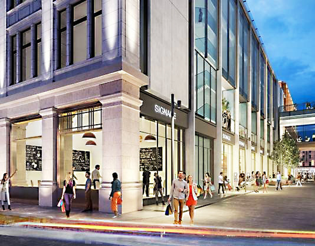 An artist's impression of how the Clery's building will look