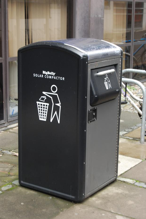 Big Belly bins compact litter