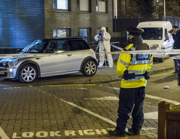 The car at Clondalkin Garda Station after the botched shooting by James Walsh
