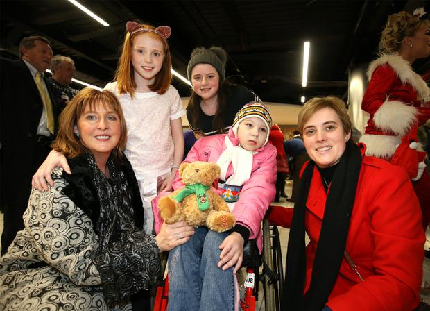 Angelina Harakova from Chernobyl with Mary Suguru, Susan Suguru and her daughters Roisin (9) and Ciara (12)