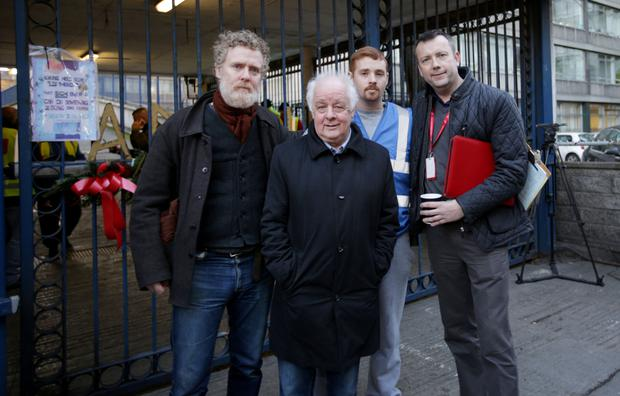 Glen Hansard, Jim Sheridan, Justin Casey and Brendan Ogle Picture: Gerry Mooney