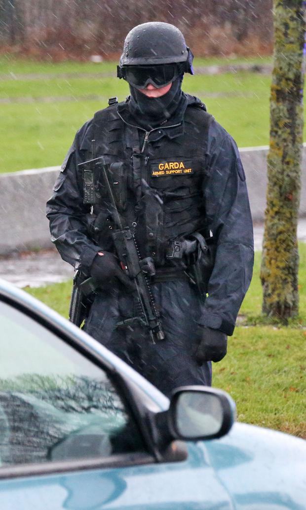 Armed garda checkpoints