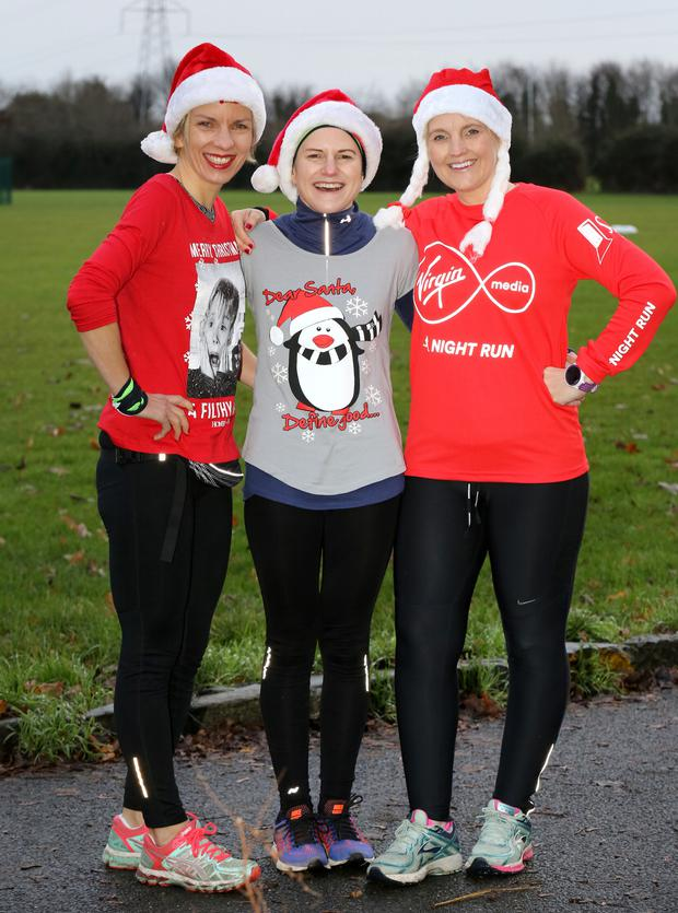 Noelle Capewell from Ratoath pictured with Annette Conroy Blanchardstown and Rachel Hyland, Ashbourne pictured before taking part in the Parkrun in Hartstown. Pic: Frank Mc Grath