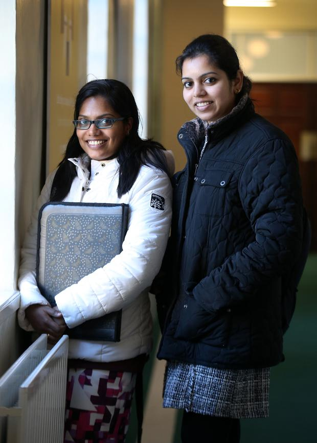 Neenu Paul and Binta Thomas from Santry