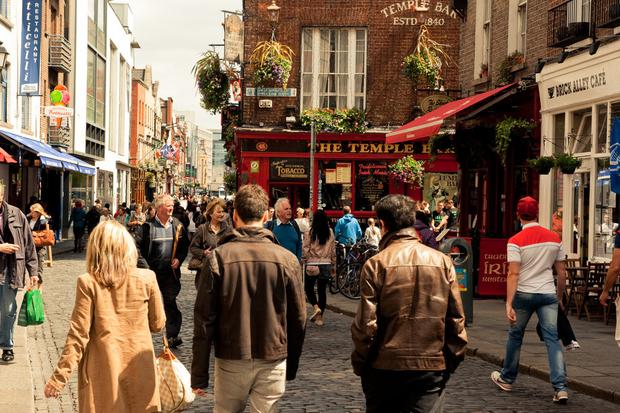 A record number of overseas visitors came to Dublin