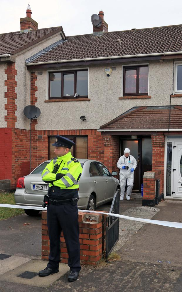 Gardai at the scene of last month's shooting in Ballyfermot
