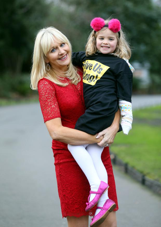 RTE broadcaster Miriam O'Callaghan launching the Give Us A Song campaign with Molly Beesley (5) from Rathmines