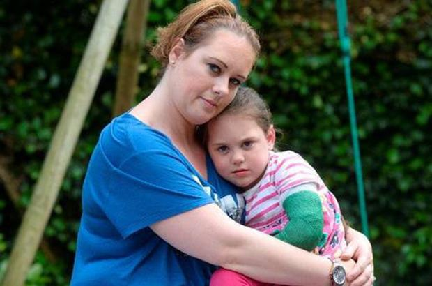 Mum Linda with Abbey, who was diagnosed with the rare and fatal brain disease 18 months ago