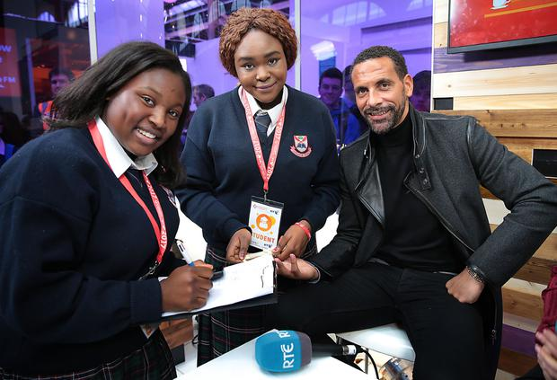 Rio Ferdinand with Precious Daramona and Halina Usman