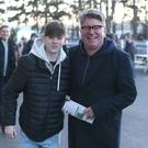 Pat Shortt with his son Lugheidh