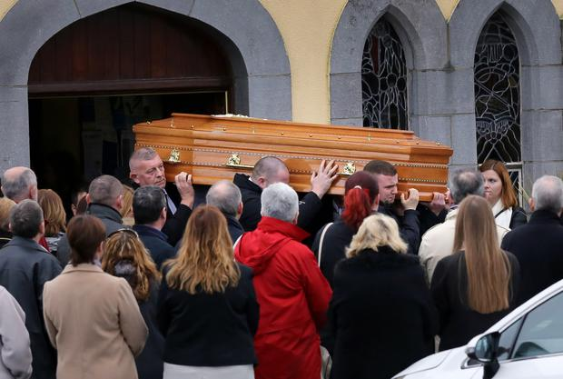 Mourners were told Emma O'Keeffe loved nothing better than to be with her three young sons Picture: Frank McGrath