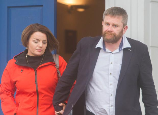 Patricia Barnett and Patrick Murphy leaving Letterkenny Circuit Court