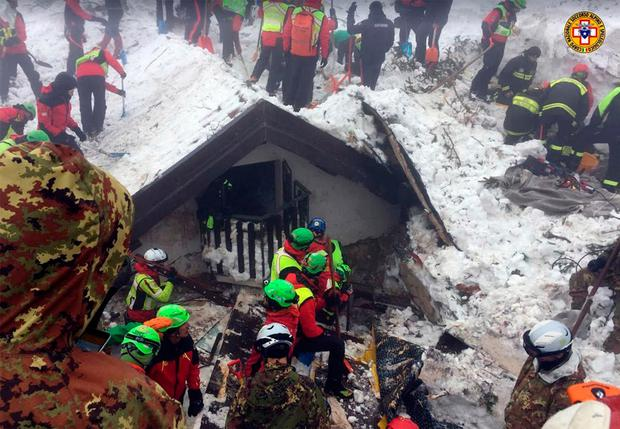 The search for survivors goes on at the avalanche-hit hotel