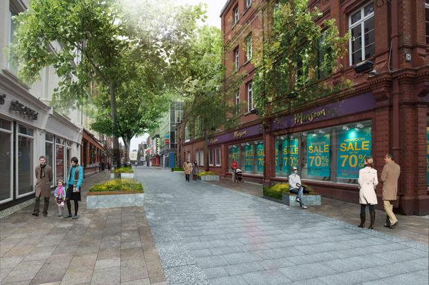 How Chatham Street will look when work is completed