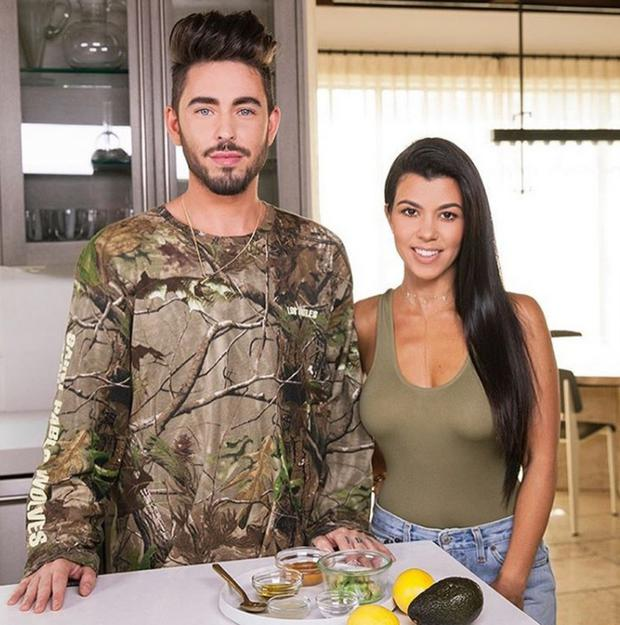 Dubliner Andrew Fitzsimons with Kourtney Kardashian